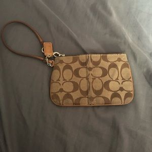 Coach zip wristlet bag